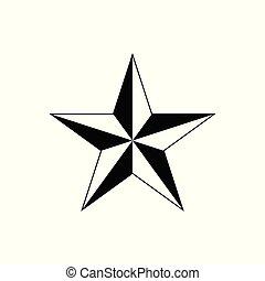 Star vector icon for graphic design, logo, web site, social media, mobile app, ui illustration