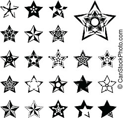 Star vector icons