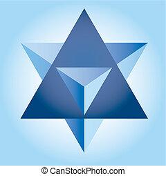 Star Op art vector illustration abstract 3D