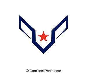 Star Wing Logo Template