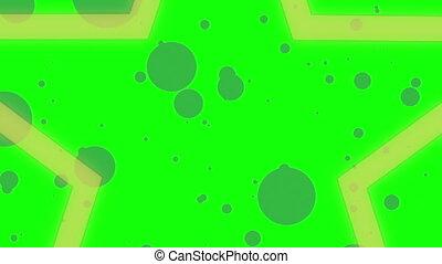 Star Wipe Two Green Screen
