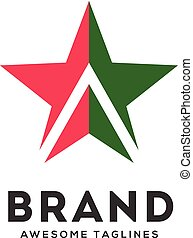 Star with arrows up logo vector