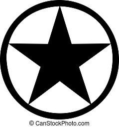 Star with black circle around it