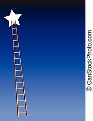 Star with ladder