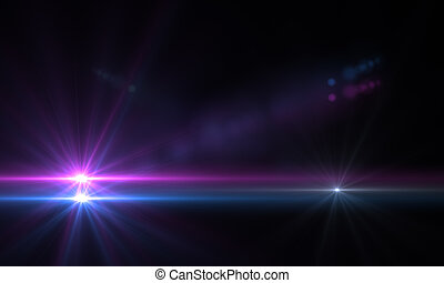lens flare - star with lens flare and bokeh effect made in ...