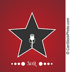 Star with microphone inside