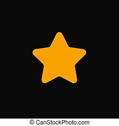 star with round corners vector