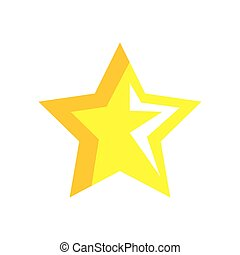 star yellow color isolated icon