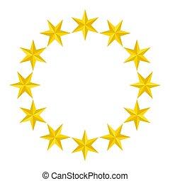 star., yellow., ornaments., six-pointed., para, seu, design.