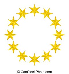 star., yellow., ornaments., six-pointed., per, tuo, design.
