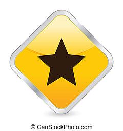 star yellow square icon