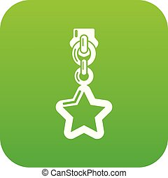 Star zip icon, simple style