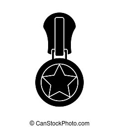star zipper zip teeth sewing textile vector graphic icon