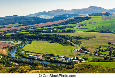 stara lubovna town in slovakia. lovely summer landscape in...