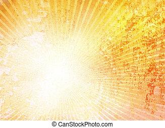 starburst, グランジ, 黄色