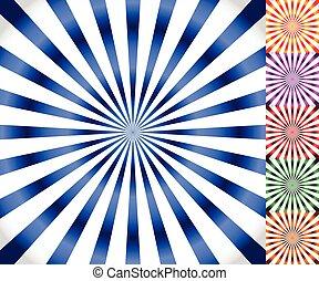 starburst, 一点に集まる, 放射, ライン, バックグラウンド。, vector., sunburst