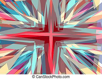 starburst, 宗教, 交差点, 背景