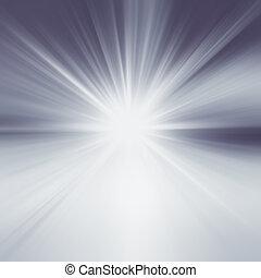 starburst, abstract, blauwe achtergrond