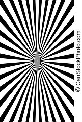 (starburst, abstract, radiaal, lijnen, model, sunburst), circulaire