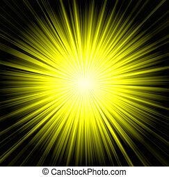 starburst, achtergrond, sunbeams