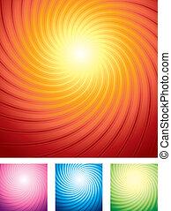starburst, arrière-plans