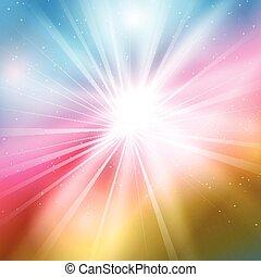 starburst background 0707
