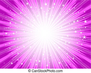 Starburst background in shades of PINK