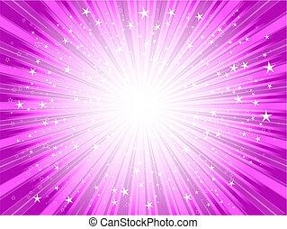 Starburst background in shades of PINK