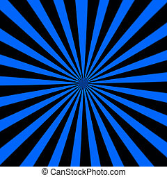 Starburst background, sunbeams going in all directions, blue and black