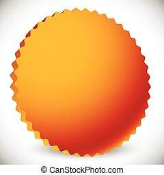 starburst, bronze., editable, forme, vecteur, graphics., écusson, 3d