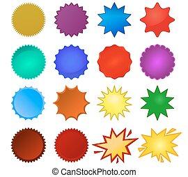 starburst, cachets