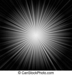 starburst, fundo, raios sol