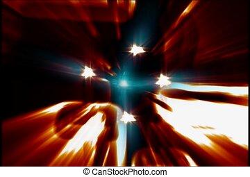 starburst, galaxie, illuminer