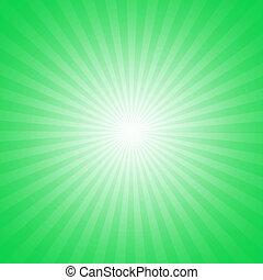 starburst, groene, effect, achtergrond