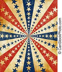 starburst, grunge, americana