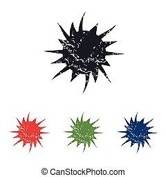 Starburst grunge icon set