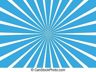 starburst, illustration., ベクトル, lines., 背景, 一点に集まる, sunburst
