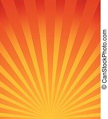 starburst, irradiar, fondo., lines., radial, converger, sunburst