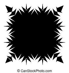 starburst, ontploffing, af)knippen, stralen, barsten, effect., balken, abstract, pattern., element, stralen, lines., radiaal, geometrisch, mask., zonnestraal, circulaire