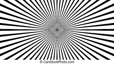 Starburst or sunburst backdrop, background. vector art.