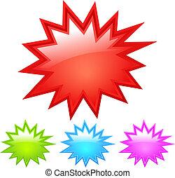 starburst, pictogram