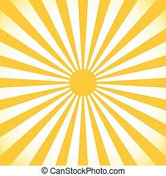 Starburst, sunburst background. Circular monochrome pattern...