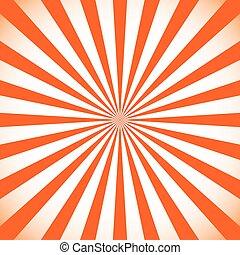 Starburst, sunburst background. Circular monochrome pattern with radial lines.