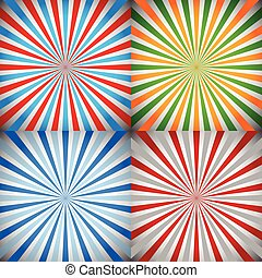 Starburst, sunburst, burst, rays background set Starburst,...