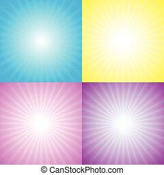 starburst, sunburst