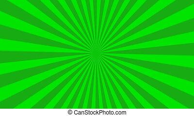starburst, vert, animation