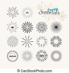 starburst/light, promienie, handmade, elementy