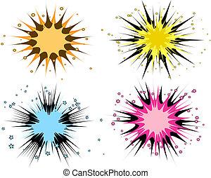 starbursts illustrations and clipart 174 starbursts royalty free rh canstockphoto com starburst clipart vector free clip art starburst design