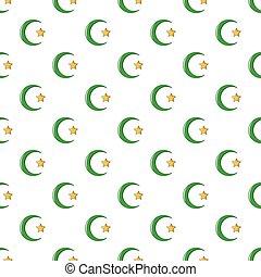Star,crescent symbol of islam pattern seamless -...