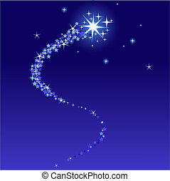 Stardust - Vector illustration of shooting star with place...
